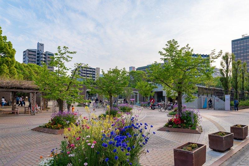 公共施設も園内に位置する「江坂公園」