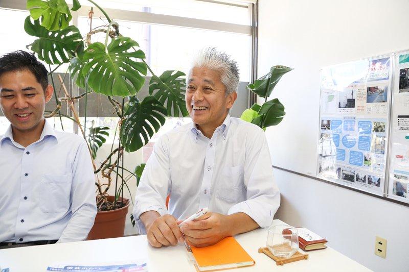 「お客様第一主義が当社の強み」と語る井上さん