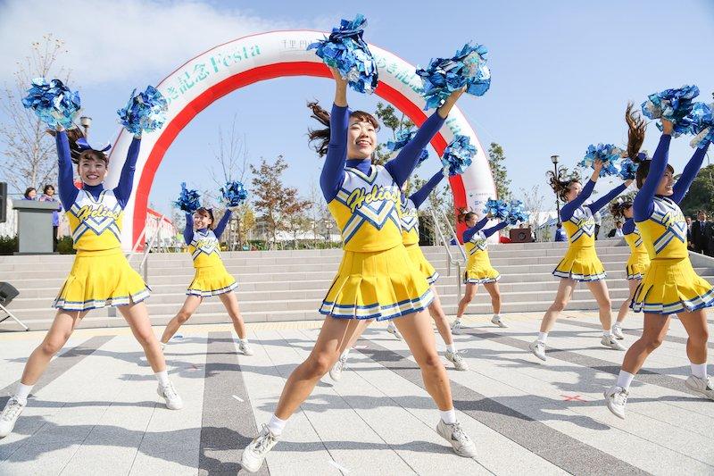関西大学応援団バトン・チアリーダー部「HELIOS」によるエール&パフォーマンス