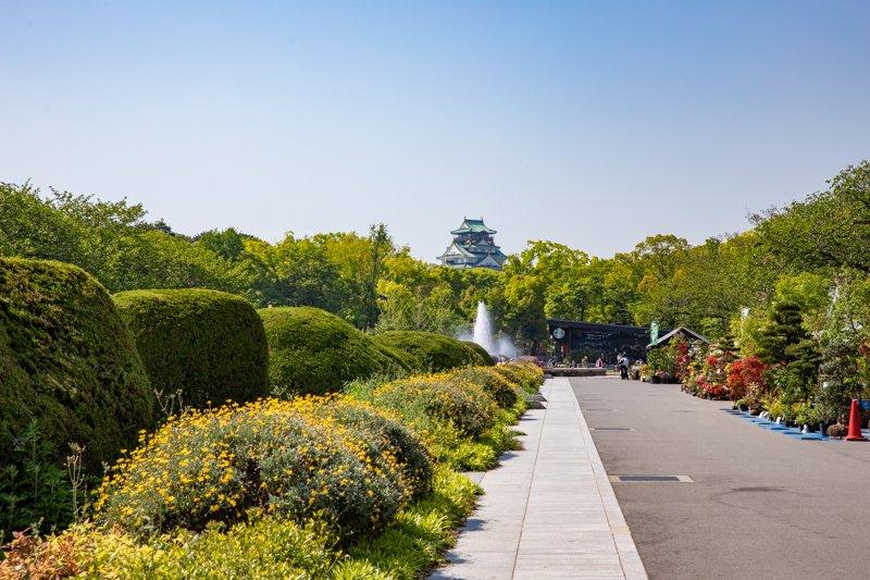「大阪城公園」の様子